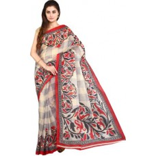 Deals, Discounts & Offers on Women Clothing - Flat 43% offer on Parchayee Printed Mangalagiri Polycotton Sari