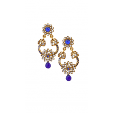 Deals, Discounts & Offers on Earings and Necklace - Rich Lady Antiuqe Royal Blue Earring