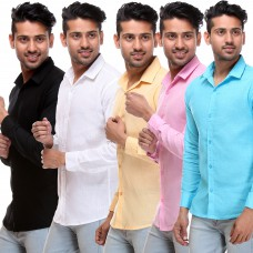Deals, Discounts & Offers on Men Clothing - Flat 83% offer on Stylish Men's Shirt