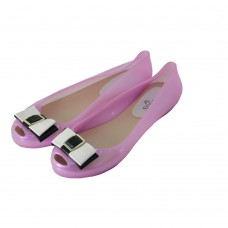 Deals, Discounts & Offers on Foot Wear - Get Soozys Jelly Bow Ballet Ballerinas, 37, pink at Rs.650
