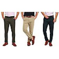 Deals, Discounts & Offers on Men Clothing - Wajbee Combo of 3 Men Cotton Chinos at Rs.999