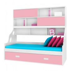Deals, Discounts & Offers on Home Appliances - Flat 20% offer on Hybrid Bunk Bed in Pink & White Finish by Alex Daisy