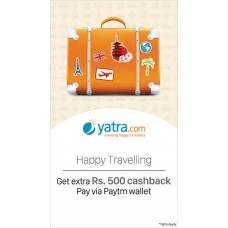 Deals, Discounts & Offers on Travel - Get Rs.500 Paytm Cashback at Yatra