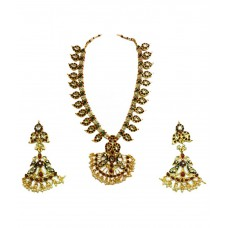 Deals, Discounts & Offers on Earings and Necklace - Chetan Arts Jewellery Gold Alloy Necklace Set with Earring