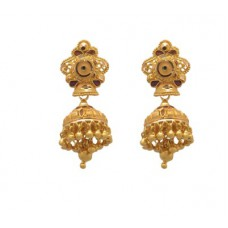 Deals, Discounts & Offers on Earings and Necklace - Flat 10% offer on Paliwal Jewelers Saanwariyan 22 K Gold Jhumki Earring