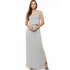Deals, Discounts & Offers on Women Clothing - Double Layer Tubular Maxi Dress at Rs.650