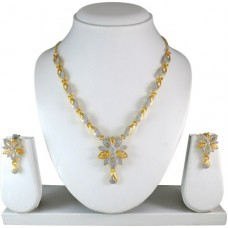 Deals, Discounts & Offers on Earings and Necklace - Atasi International Marit Gold Silver Alloy Jewel Set