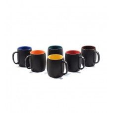 Deals, Discounts & Offers on Home & Kitchen - CDI Dholak Shaped Stoneware 250 ML Mugs - Set of 6 at -65%