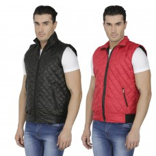 Deals, Discounts & Offers on Men Clothing - Wrab Combo Of 2 Sleeveless Jackets For Men