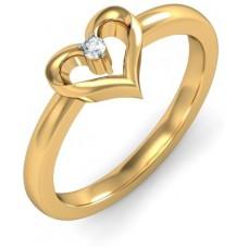 Deals, Discounts & Offers on Women - BlueStone The Herze Gold Diamond 18 K Ring