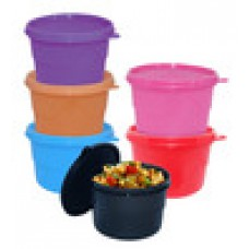 Deals, Discounts & Offers on Kitchen Containers - Multicolor Polypropylene 550 ML Round Storage Container