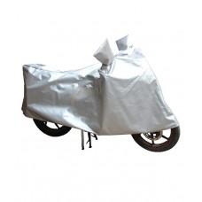 Deals, Discounts & Offers on Car & Bike Accessories - Hms Universal Bike Cover In Silver Taffeta