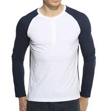 Deals, Discounts & Offers on Men Clothing - Hot Pepper Men's Cotton Henley Full Sleeve T-shirt