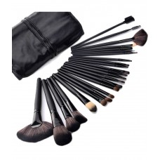 Deals, Discounts & Offers on Accessories - Tws Professional Beauty Cosmetic Tool Makeup Brush Set With Black Roll up Case - Set Of 24