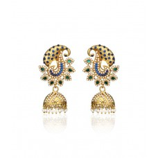 Deals, Discounts & Offers on Earings and Necklace - Zaveri Pearls Multicolor Antique Designer Jhumki Earrings