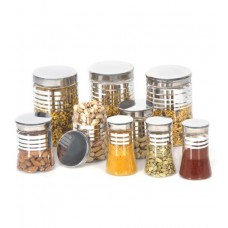 Deals, Discounts & Offers on Storage - Flat 49% offer on Steelo Transparent Storage Container - Set of 9