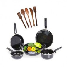 Deals, Discounts & Offers on Home Appliances - 5 Pcs Non-Stick Induction Safe Cookware 5 Pcs Skimmer Set at Rs.385
