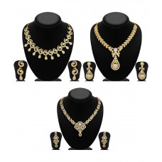 Deals, Discounts & Offers on Earings and Necklace - Sukkhi Glimmery Set of 3 Australian Diamond Necklace Sets