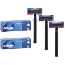 Deals, Discounts & Offers on Men - Gillette Series Shave Gel PACK OF 2 + RAZOR GILLETTE PRESTO 3