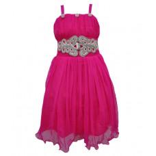 Deals, Discounts & Offers on Baby & Kids - Flat 60% offer on Kids Rock Fuchsia Embellished Girls Layered Dress