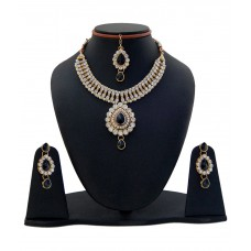 Deals, Discounts & Offers on Women - Flat 77% offer on Manukunj White Alloy Necklace Set