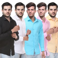 Deals, Discounts & Offers on Men Clothing - Combo of 5 Formal Shirts Just @Rs.899