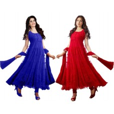 Deals, Discounts & Offers on Women Clothing - Combo of 2 Celebrity Anarkali Dress Just @Rs.699