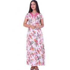 Deals, Discounts & Offers on Women Clothing - Sweet Dreams Birds N Flowers Pure Cotton Nighty