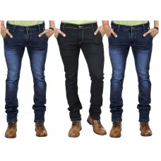 Deals, Discounts & Offers on Men Clothing - Paris Polo Combo Of 3 Fashion Stretch Jeans - 3 Jeans