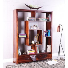 Deals, Discounts & Offers on Home Appliances - Valencia Solid Wood Book Shelf in Honey Oak Finish by Woodsworth at Flat 36% off