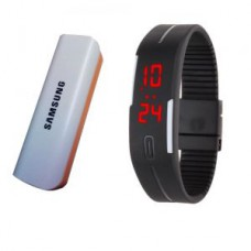 Deals, Discounts & Offers on Mobile Accessories - Samsung OEM 2600mah USB Powerbank With LED Jelly Digital Watch