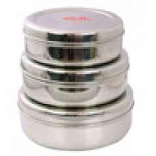 Deals, Discounts & Offers on Kitchen Containers - Aristo Silver Canister set of 3 offer