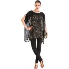 Deals, Discounts & Offers on Women Clothing - Stylista Party Short Sleeve Animal Print Women's Top