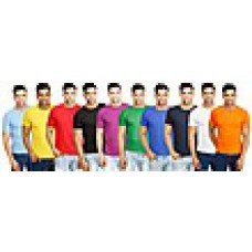 Deals, Discounts & Offers on Men Clothing - Combo Of 10 Round Neck T-Shirts at Rs 999 only