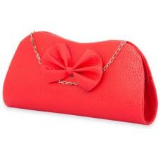 Deals, Discounts & Offers on Women - SkyWays Women Casual Red Leatherette Clutch
