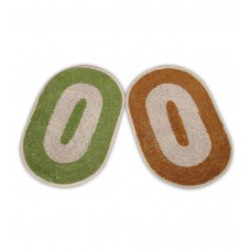 Deals, Discounts & Offers on Home Decor & Festive Needs - JBG Home Store Oval Door Mats (Set of 2) Green and Beige at Rs.76 in Pepperfry