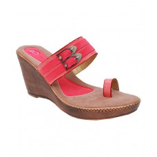 Deals, Discounts & Offers on Foot Wear - iLO Red Wedges Heeled Slip-On offer in deals of the day