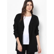 Deals, Discounts & Offers on Women Clothing - NEW LOOK Black Pocket Front Duster Coat