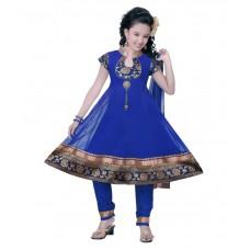 Deals, Discounts & Offers on Baby & Kids - Blue Salwar Suit offer  For Girls