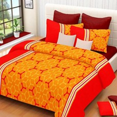 Deals, Discounts & Offers on Home & Kitchen - Cenizas 100% Cotton Double Bedsheet With 2 Pilow Cover