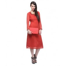 Deals, Discounts & Offers on Women Clothing - Poly Georgette Kurta offer