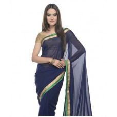 Deals, Discounts & Offers on Women Clothing - Georgette Saree With Blouse offer