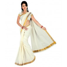 Deals, Discounts & Offers on Women Clothing - Maxis Cotton Saree with Blouse offer