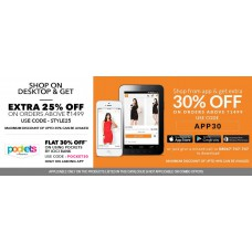 Deals, Discounts & Offers on Men Clothing - EXTRA 25% OFF on orders of Above Rs.1499.