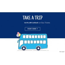 Deals, Discounts & Offers on Travel - Get 25% Cashback on Bus tickets bookings of Rs.200 or more  in Paytm