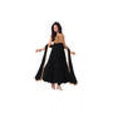 Deals, Discounts & Offers on Women Clothing - Flat 59% offer on Georgette Black Unstitched Suit