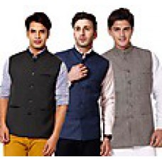 Deals, Discounts & Offers on Men - Combo Of 3 Men Modi Jacket at Rs 1299 only