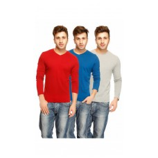 Deals, Discounts & Offers on Men - Gritstones Pack Of 3 Multi Cotton Tshirts