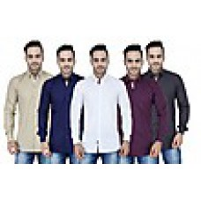 Deals, Discounts & Offers on Men Clothing - Stylox Combo Of 5 Men Plain Shirts at Rs 1499 only