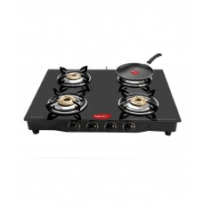 Deals, Discounts & Offers on Home & Kitchen - Pigeon Grand 4 Brass Burner Glass top Stove